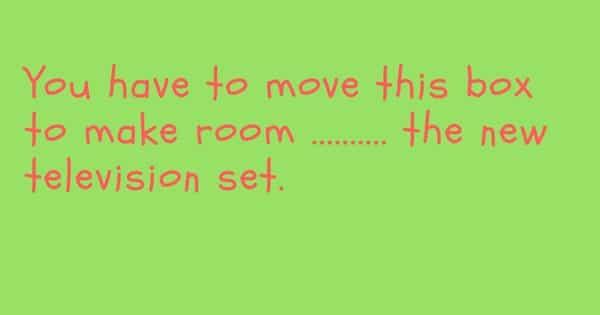 English Preposition Quiz (Part III) 14