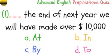 Advanced English Prepositions Quiz 6