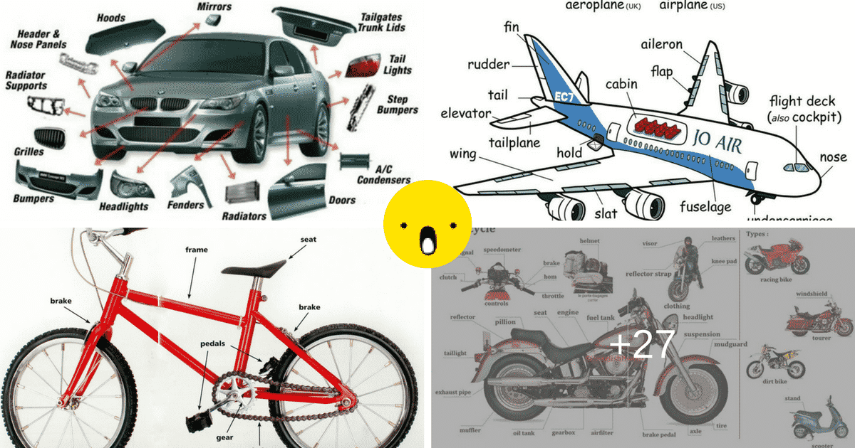 Common Vehicles and Modes of Transportation Vocabulary 12