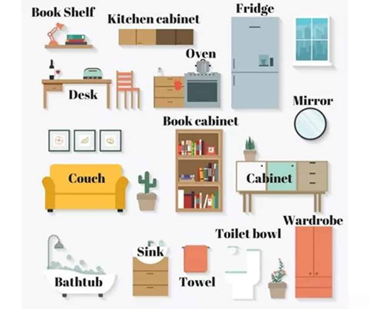 Furniture Vocabulary: 250+ Items Illustrated 2