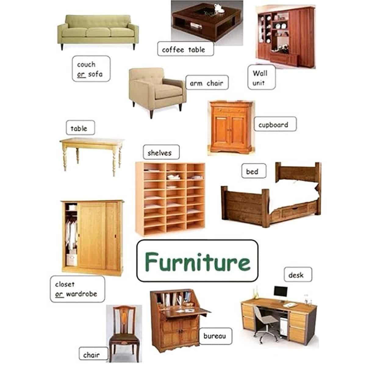 Furniture Vocabulary: 250+ Items Illustrated 19