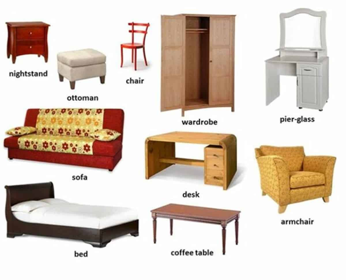 Furniture Vocabulary: 250+ Items Illustrated 20