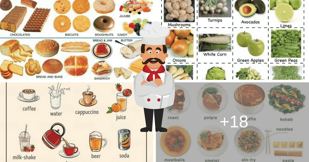 Food and Drinks Vocabulary in English: 500+ Items Illustrated 10