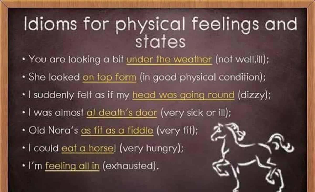 Idioms for Physical Feelings and States