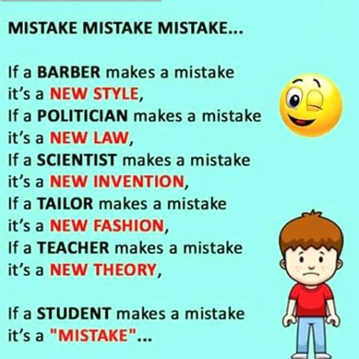 If a Student Makes a Mistake ...