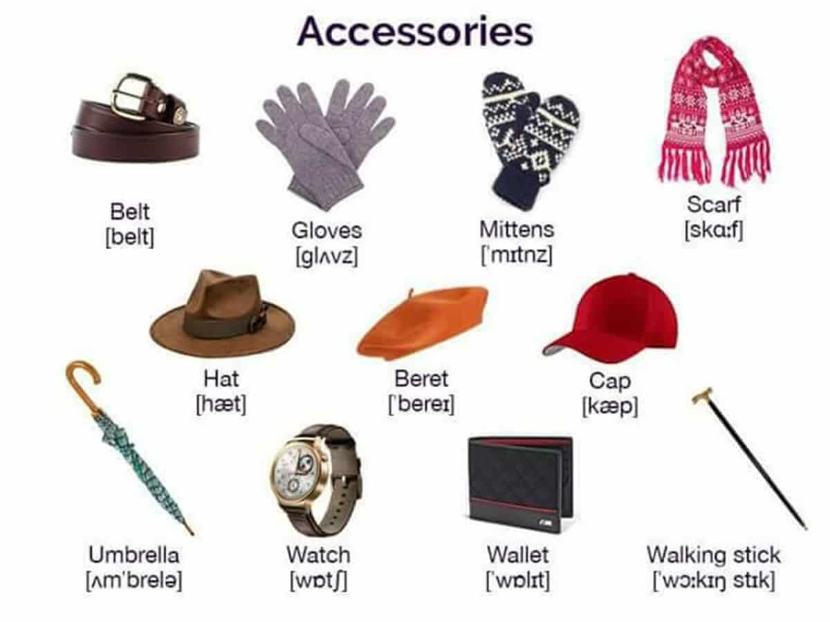 """""""Clothes and Fashion Accessories"""" Vocabulary in English: 100+ Items Illustrated 15"""
