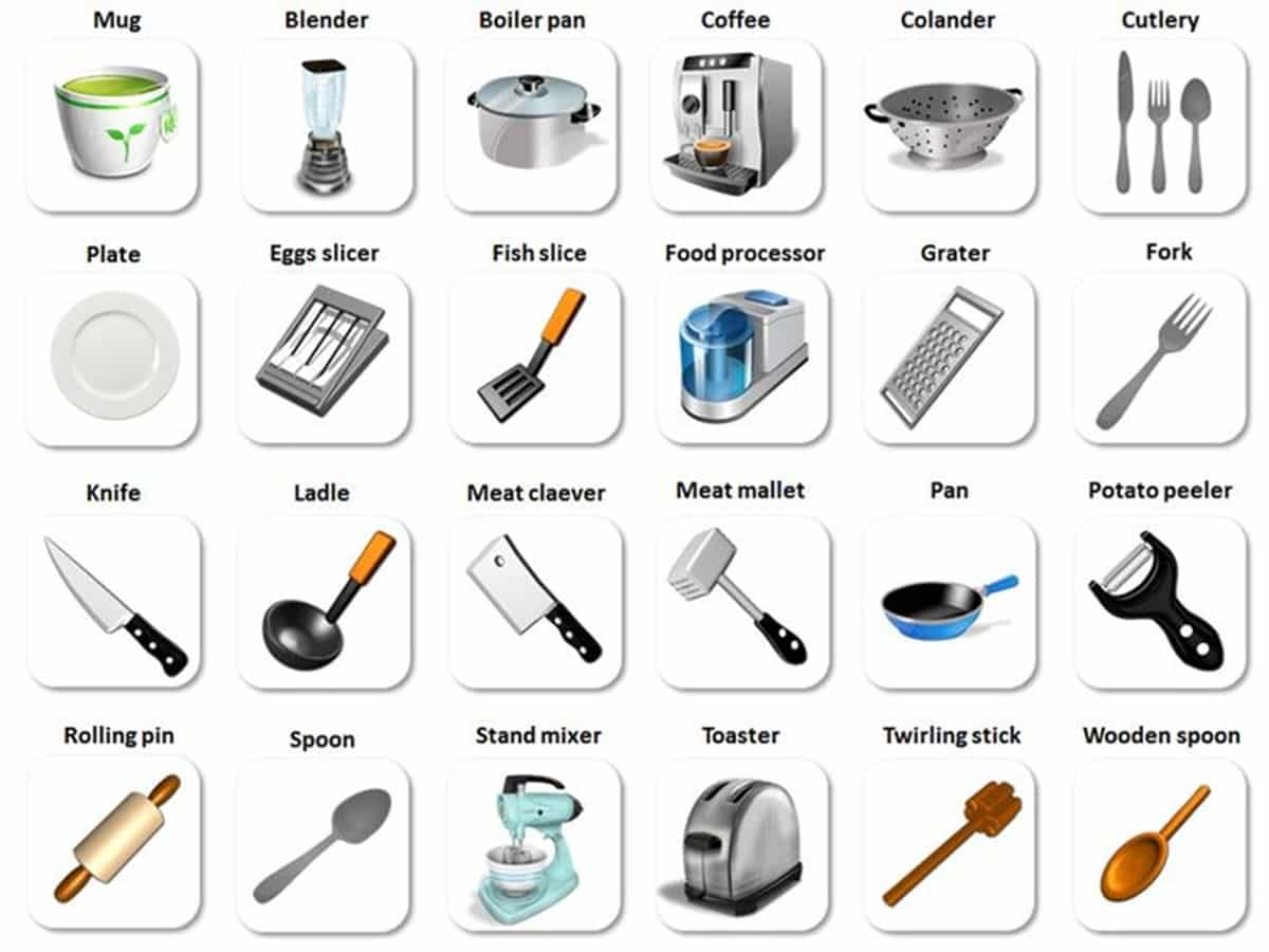 In the kitchen vocabulary kitchen utensils cooking verbs 1