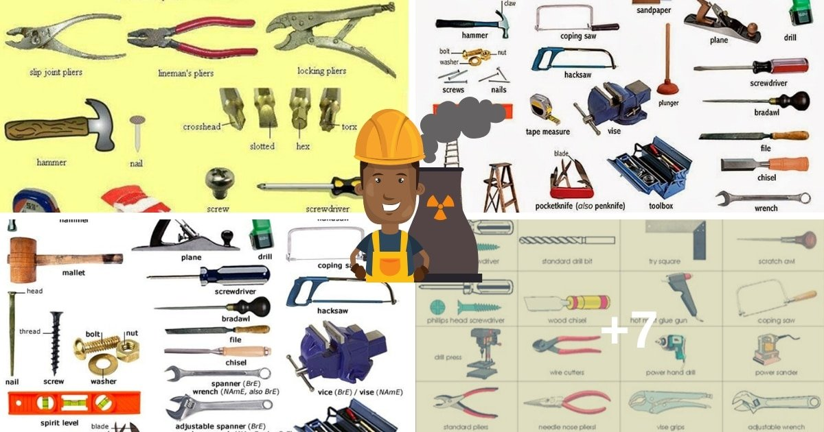 Tools and Equipment Vocabulary: 150+ Items Illustrated 15