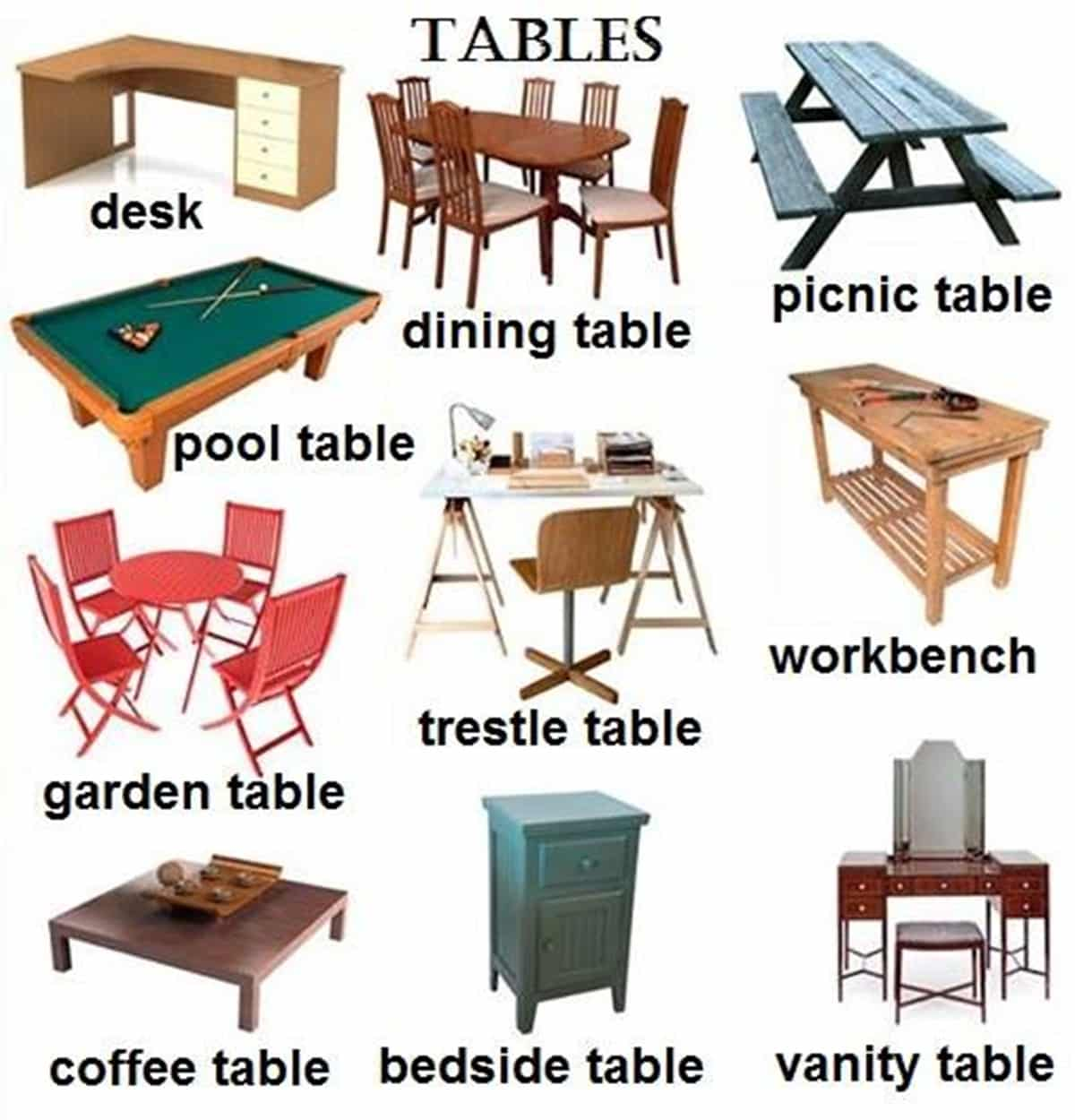 Furniture Vocabulary: 250+ Items Illustrated 9