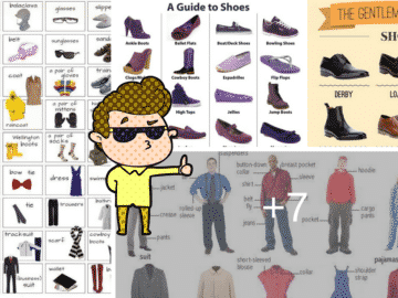 """Clothes and Fashion Accessories"" Vocabulary in English: 100+ Items Illustrated 14"