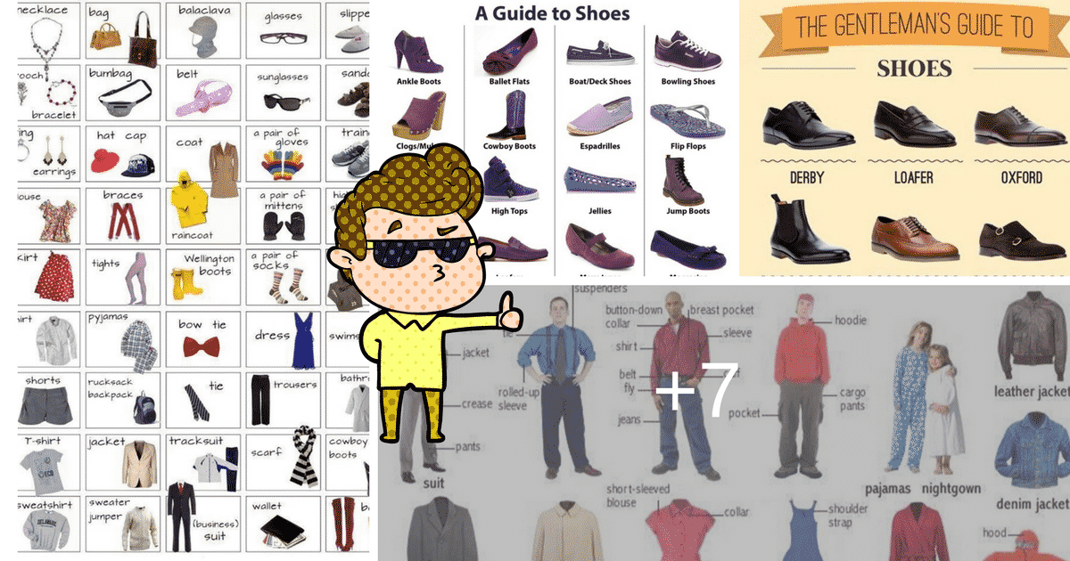 """Clothes and Fashion Accessories"" Vocabulary in English: 100+ Items Illustrated 19"