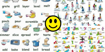 Visual Dictionary: Common Verbs in English 9
