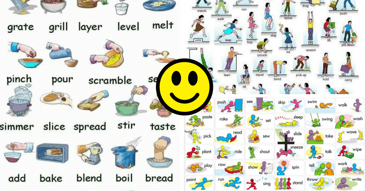 Visual Dictionary: Common Verbs in English 6