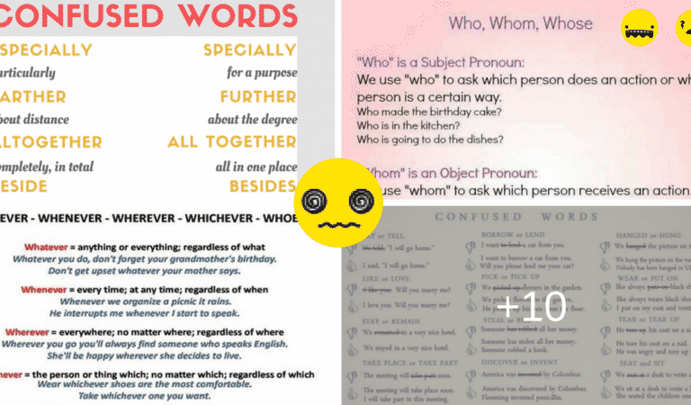 50+ Commonly Confused Words in English