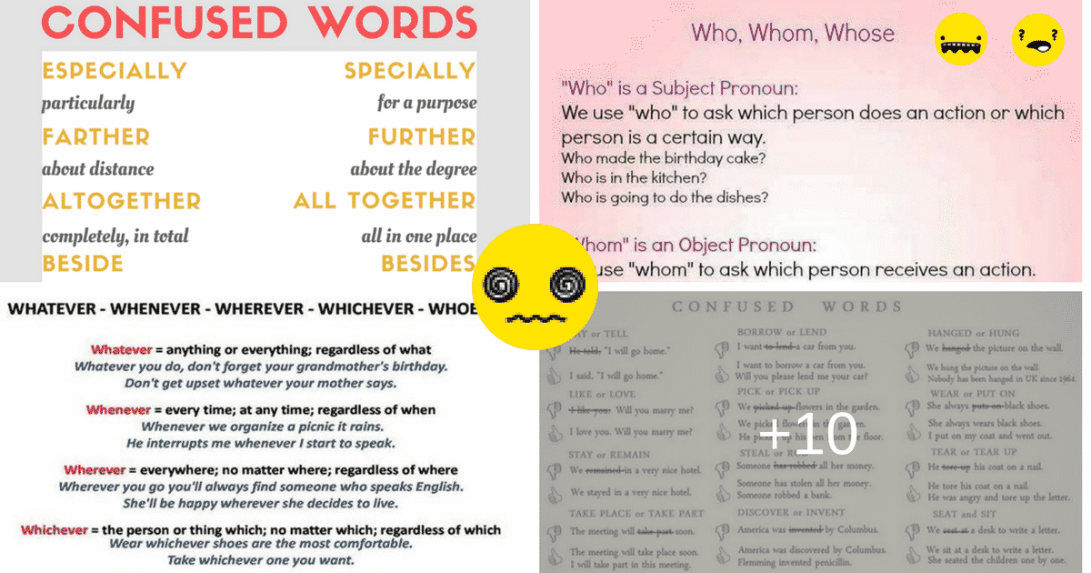 50+ Commonly Confused Words in English 6