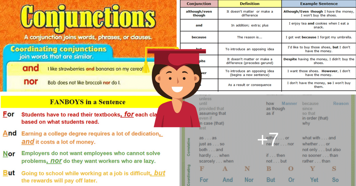 Conjunctions in English: Grammar Rules and Examples 10