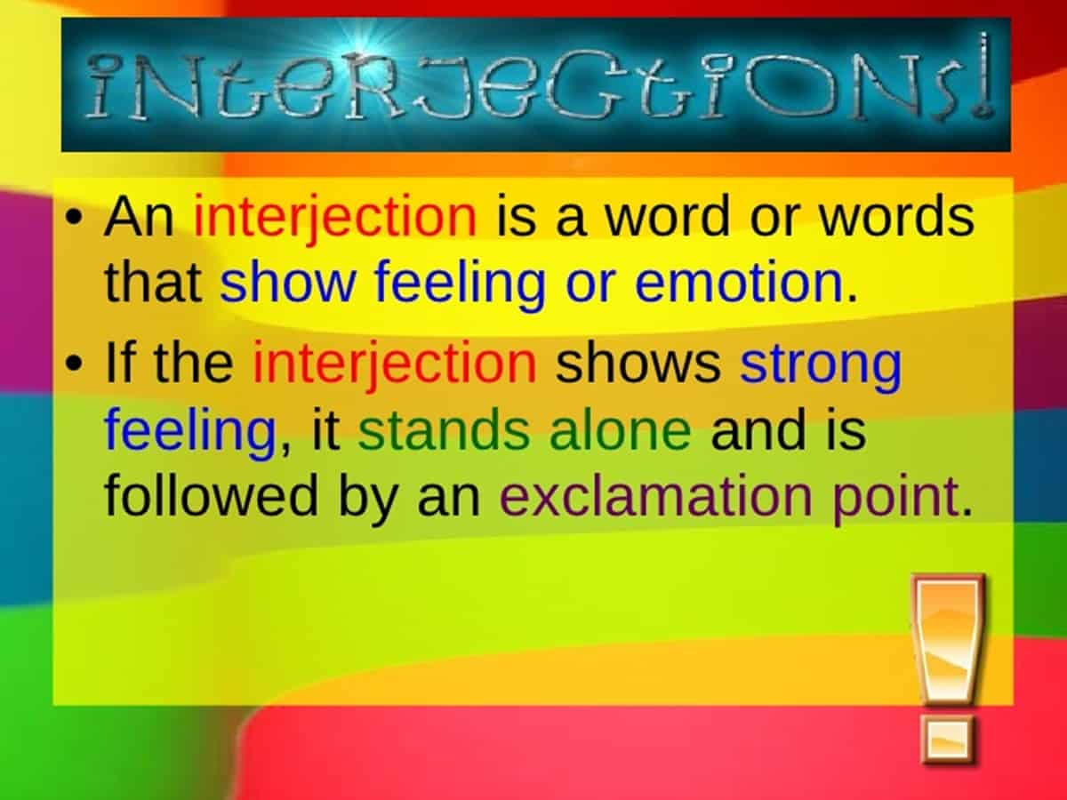 Grammar in English - Official Site Interjection examples with pictures
