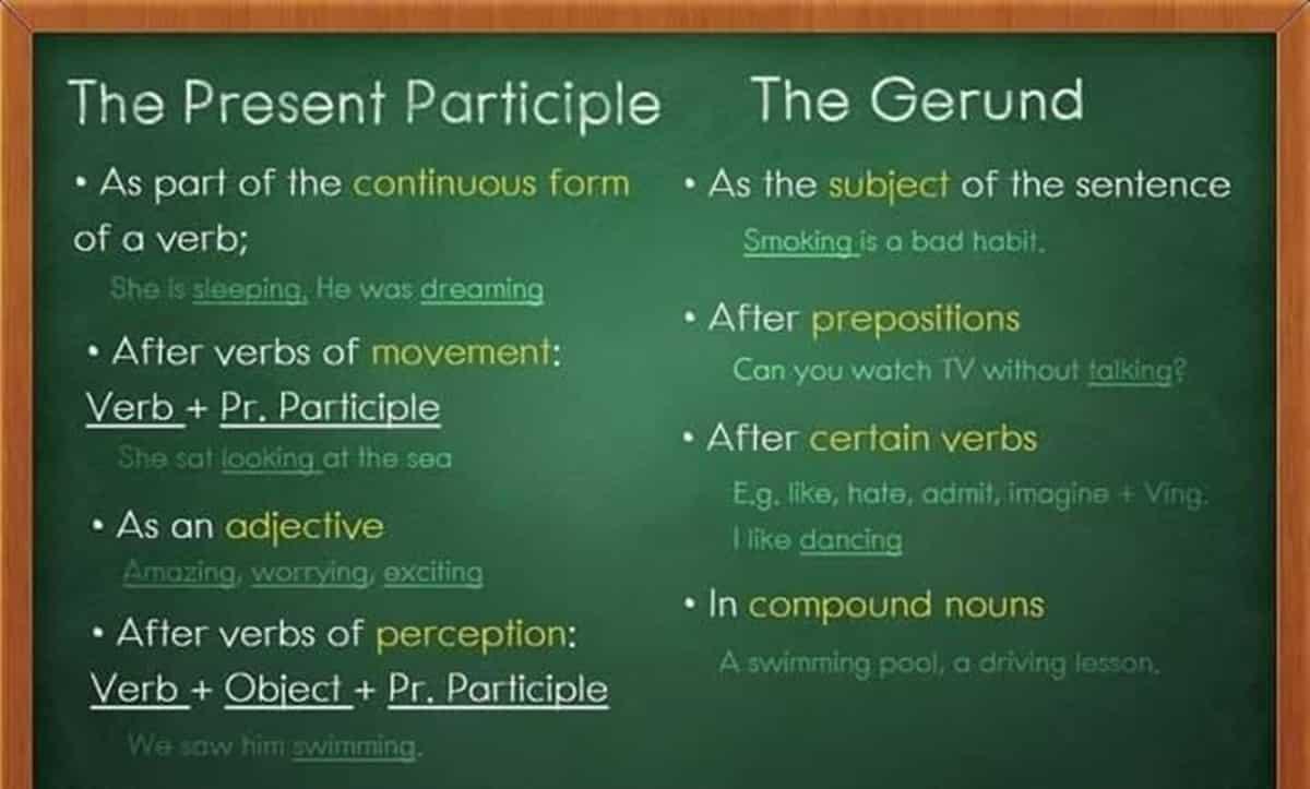 The Present Participle vs. The Gerund
