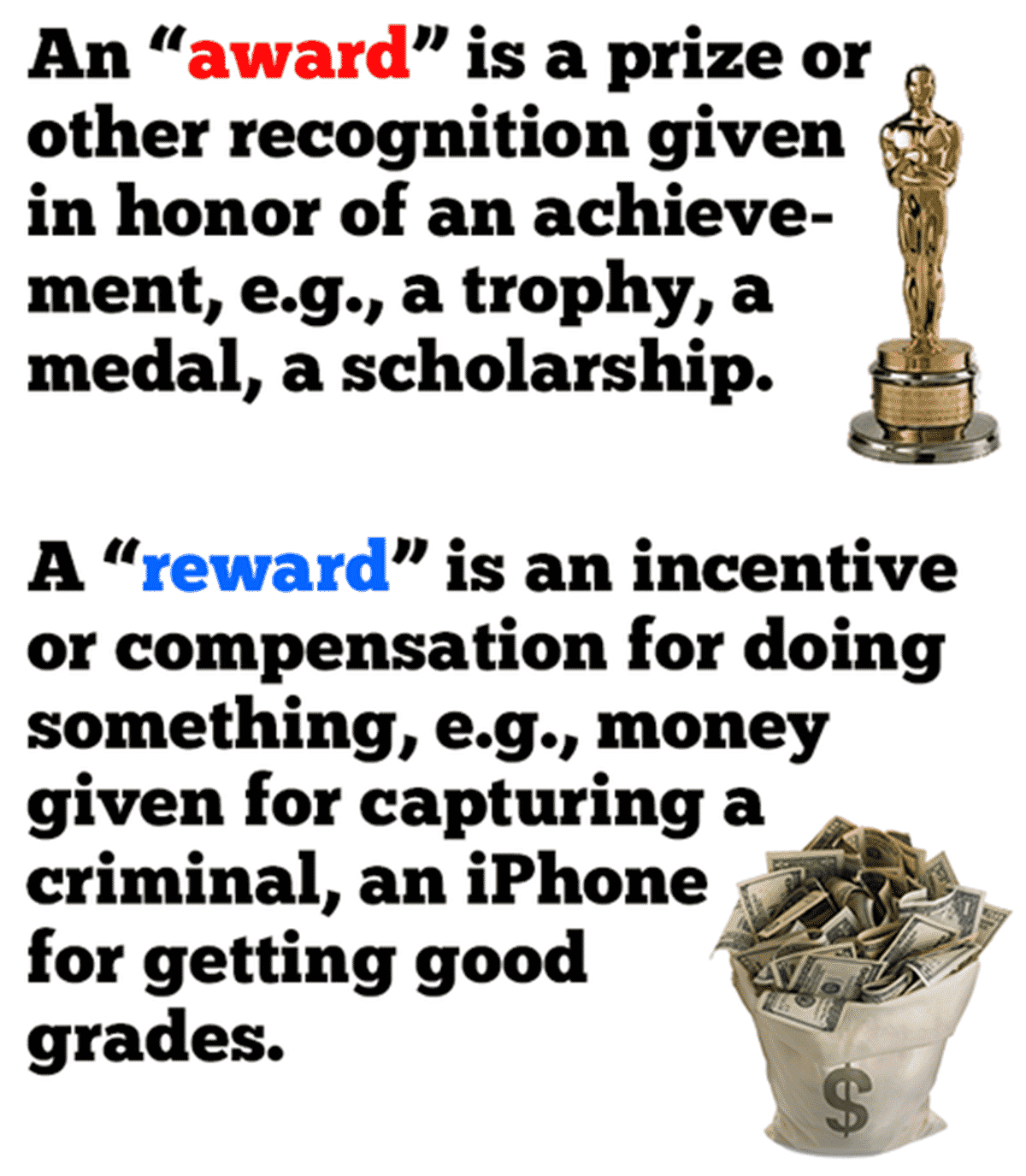 AWARD and REWARD