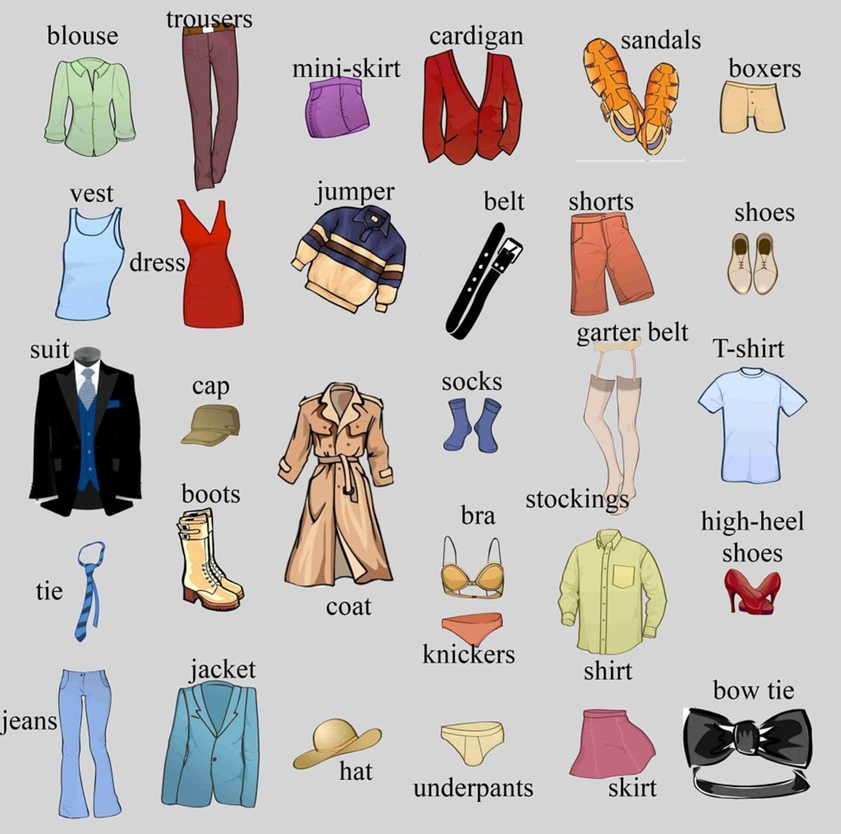 Clothes and Accessories Vocabulary 18