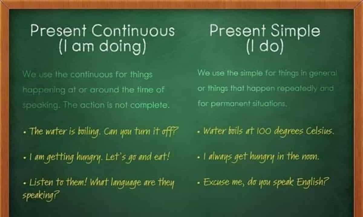 Present Continuous vs. Present Simple