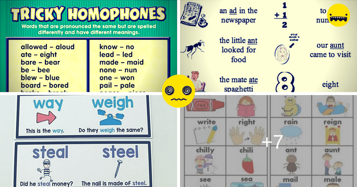 Homophones: the Most Confusing Words in English (a List with Meanings and Examples) 7