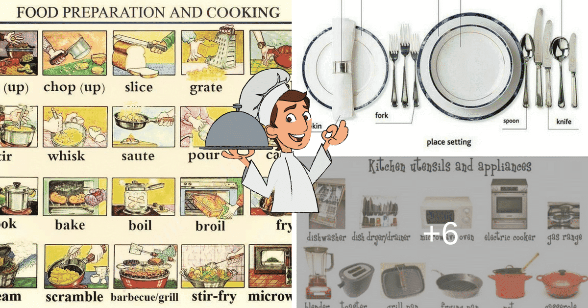 In the Kitchen Vocabulary: Kitchen Utensils & Cooking Verbs 6