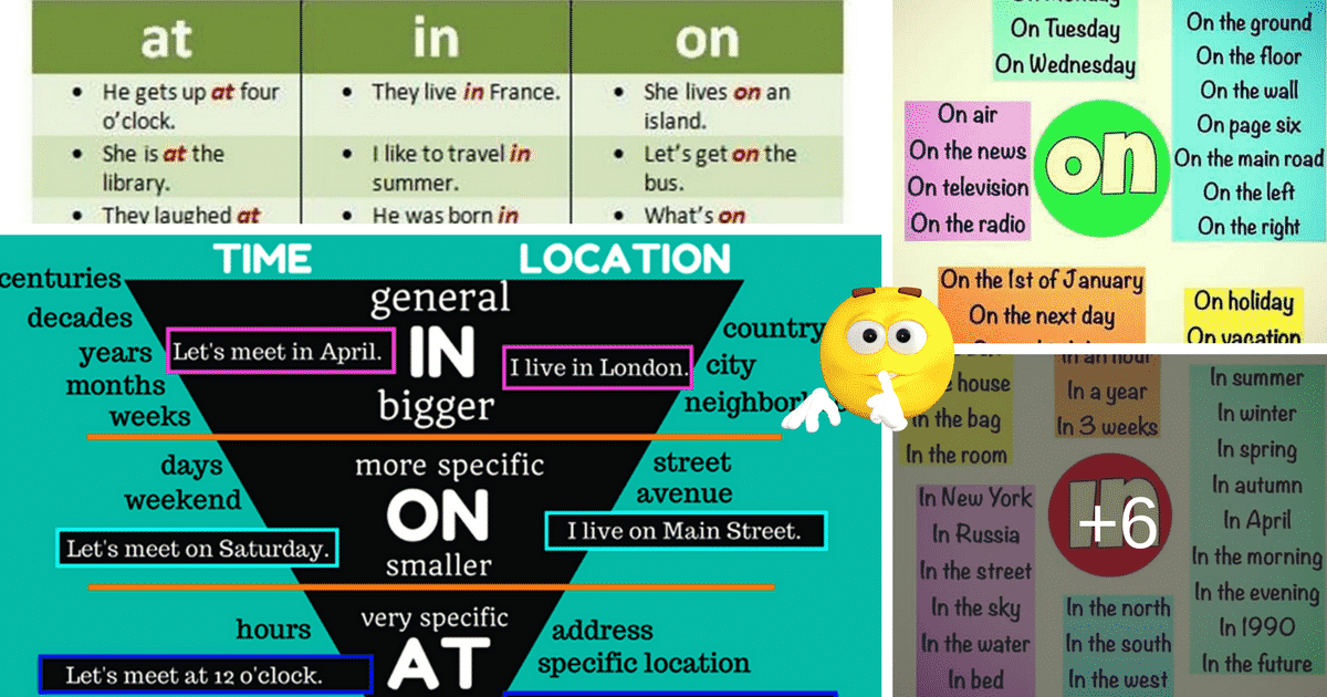 Prepositions of Time and Place: AT – IN – ON 4