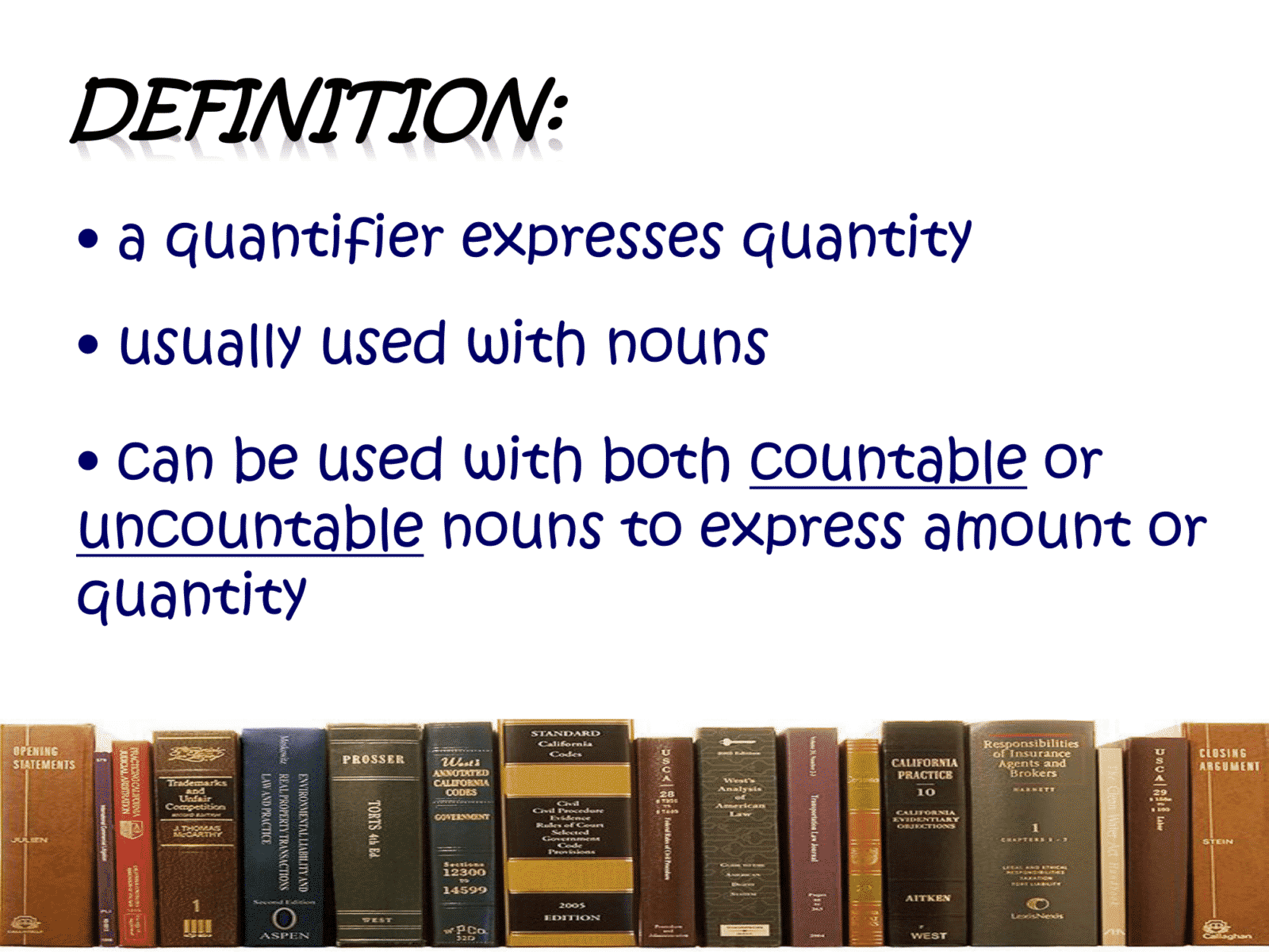 Definition of Quantifiers