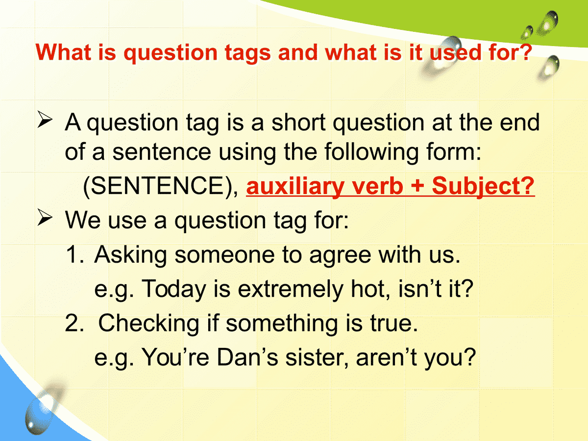 Question Tag in English
