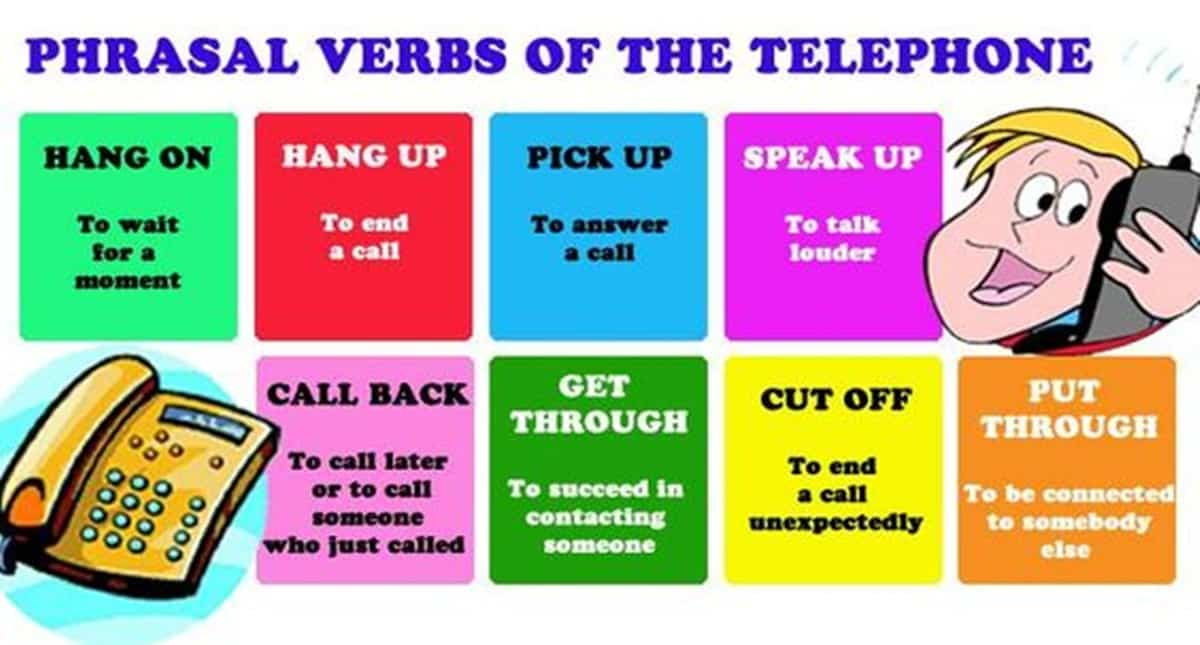 Phrasal Verbs of Telephone