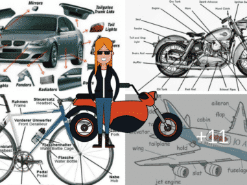 English Vocabulary: Vehicle Parts and Accessories 16