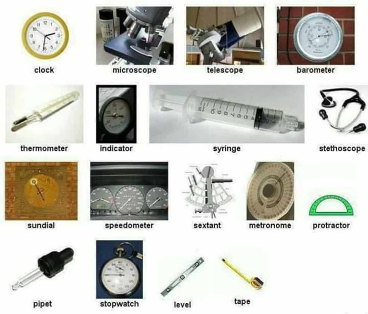 English Vocabulary: Laboratory Equipment and Scientific Instruments 2