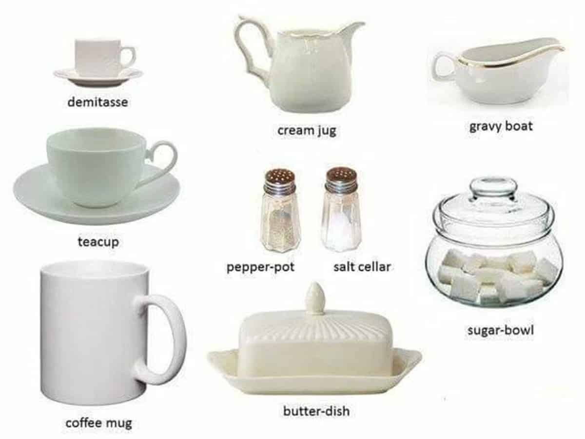Tableware Vocabulary in English: 50+ Items Illustrated 1