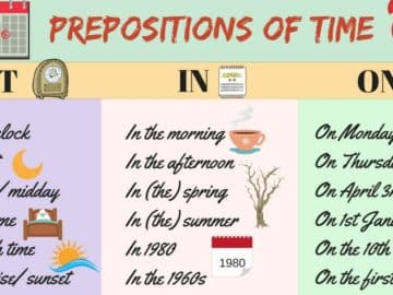 How to Use Prepositions of Time - AT / IN / ON 16