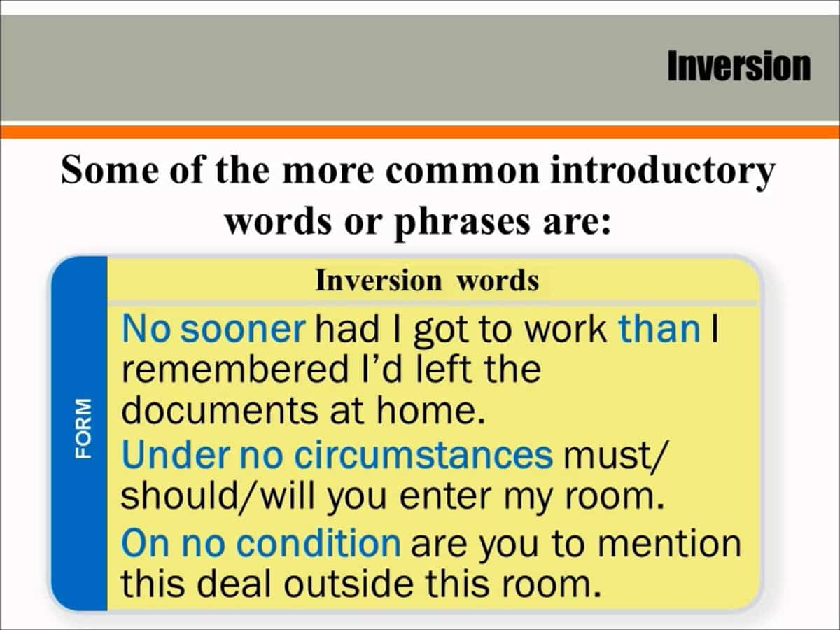 Inversion in English