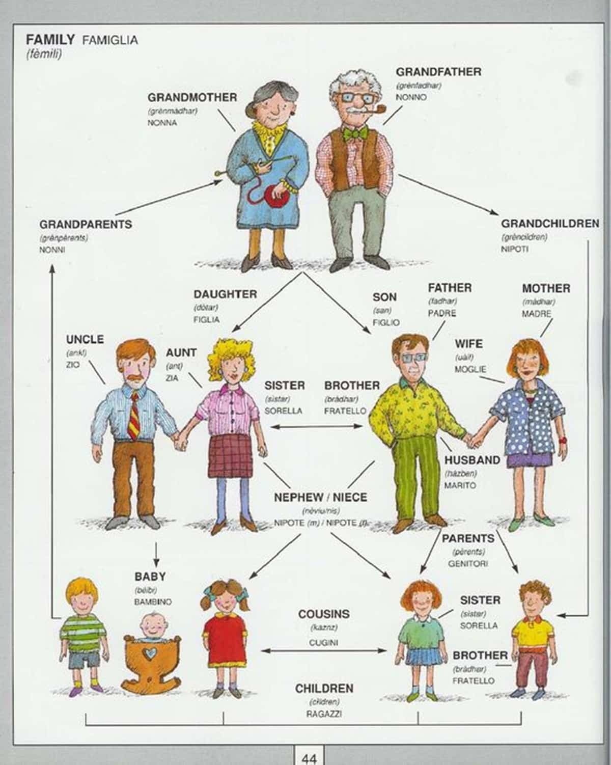 English Vocabulary: Members of the Family 1