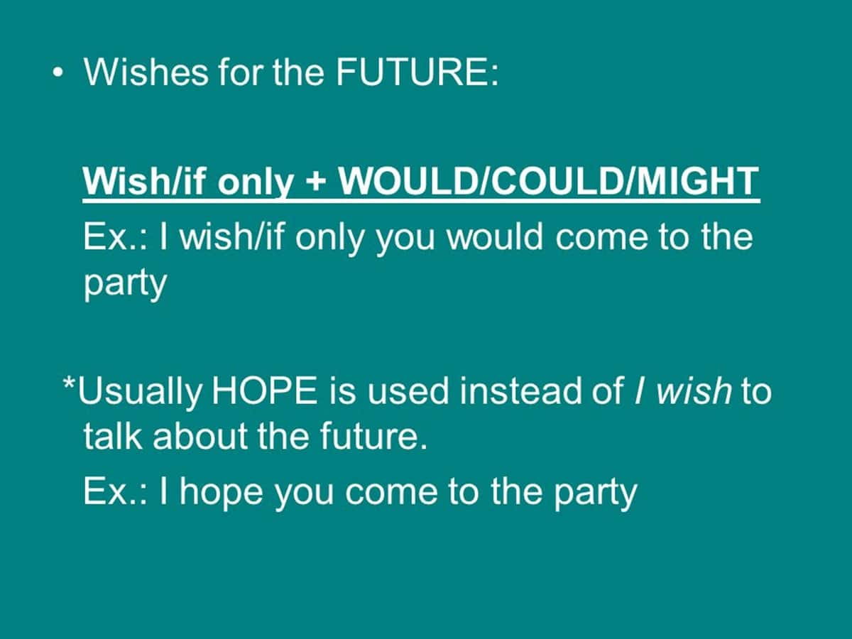 Wishes about the Future