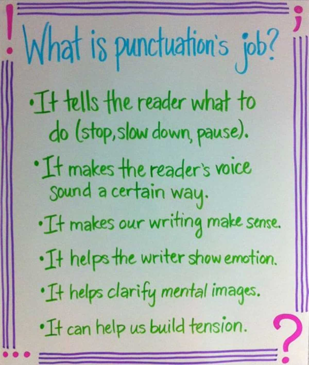 what is Punctuation's job?