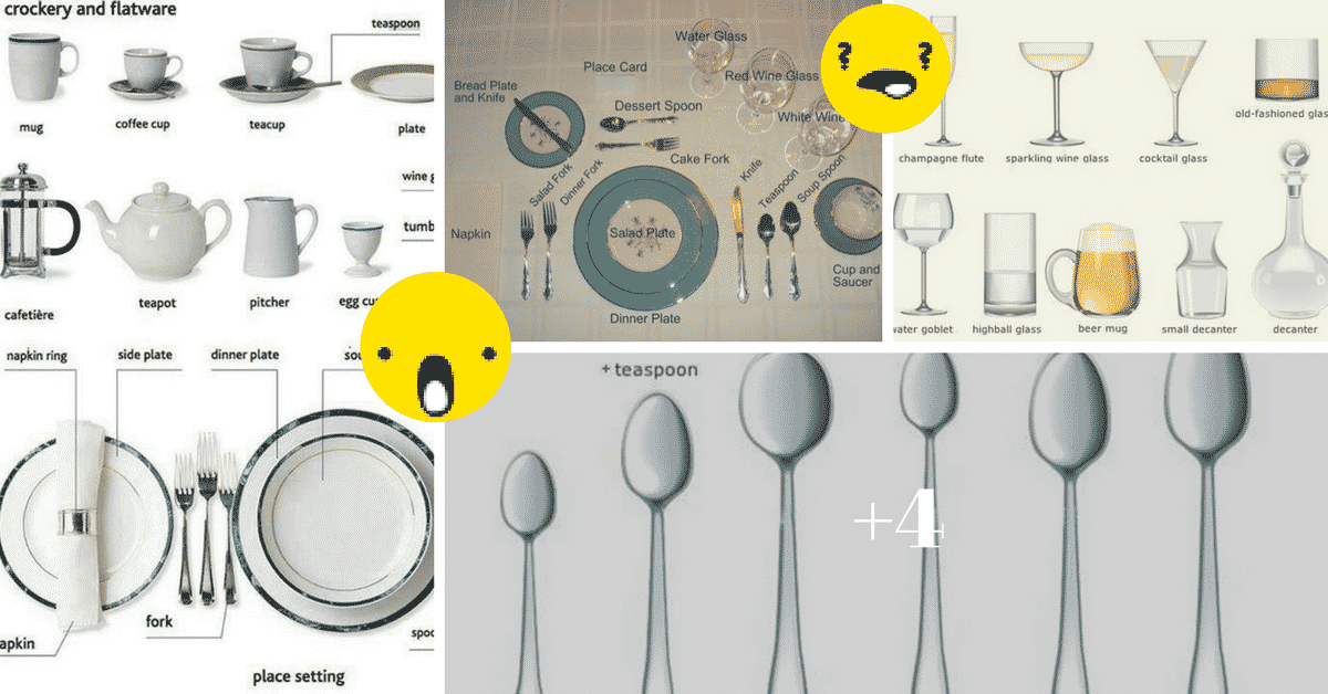 Tableware Vocabulary in English: 50+ Items Illustrated 2