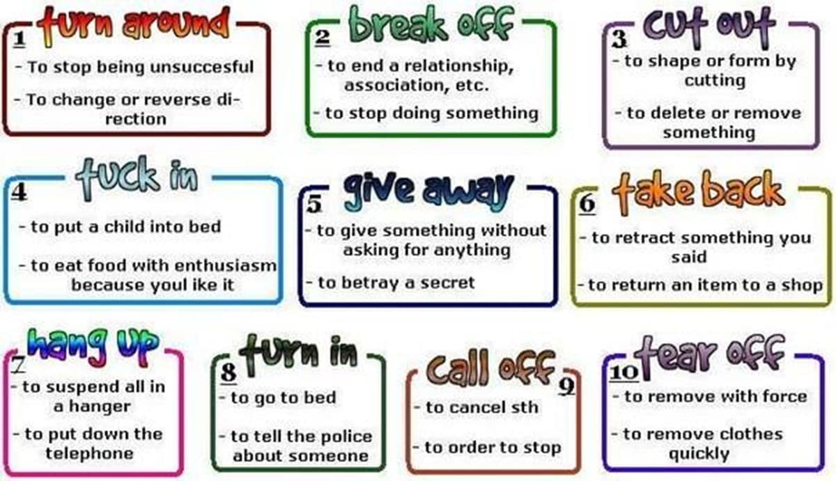 Other Phrasal Verbs Used in Daily Life