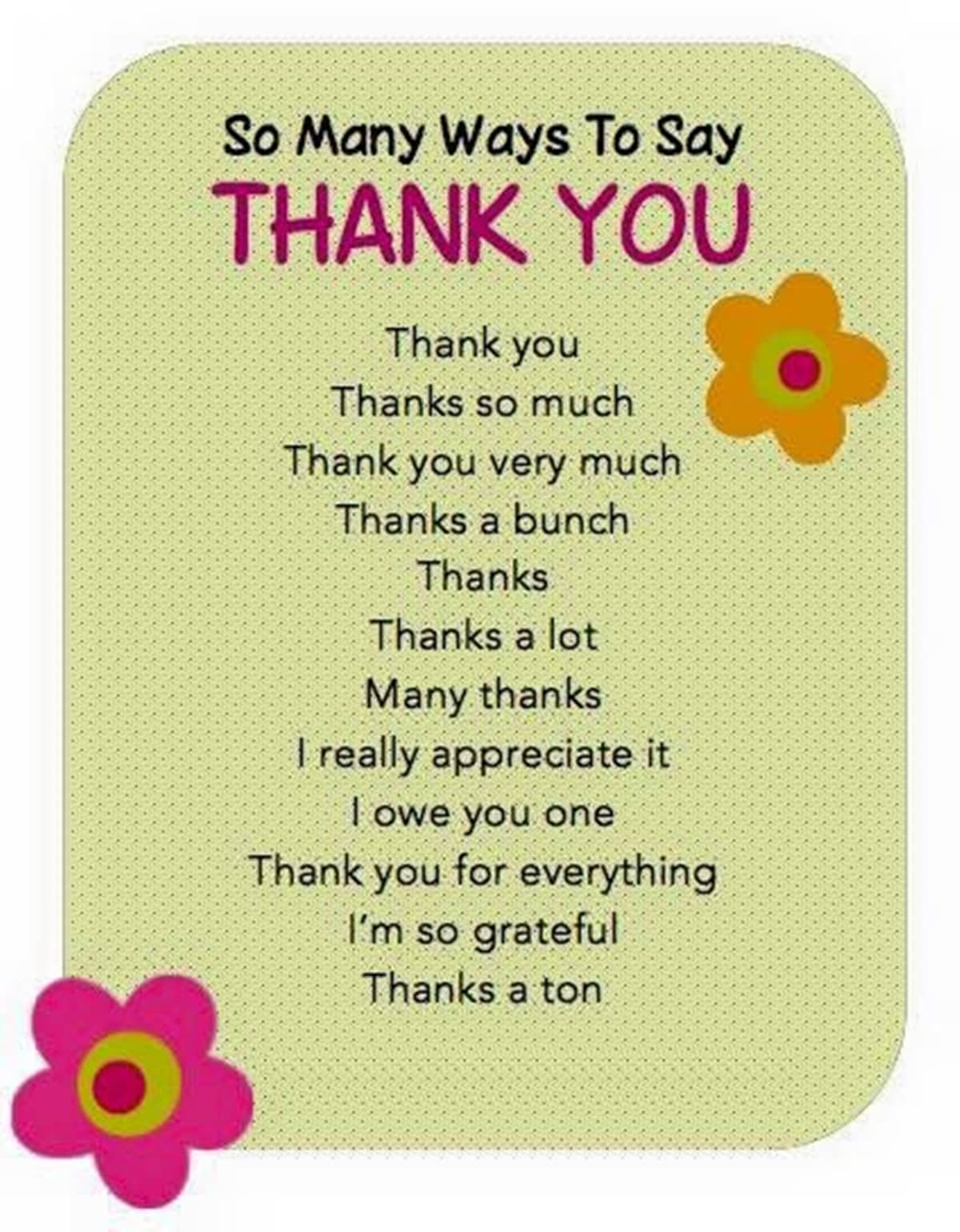 30+ Delightful Ways to Say THANK YOU in English