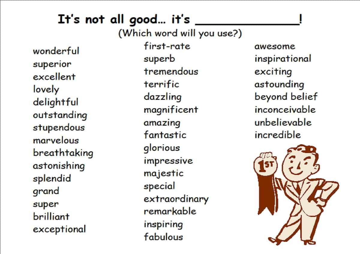 """Other Ways to Say """"Good"""""""