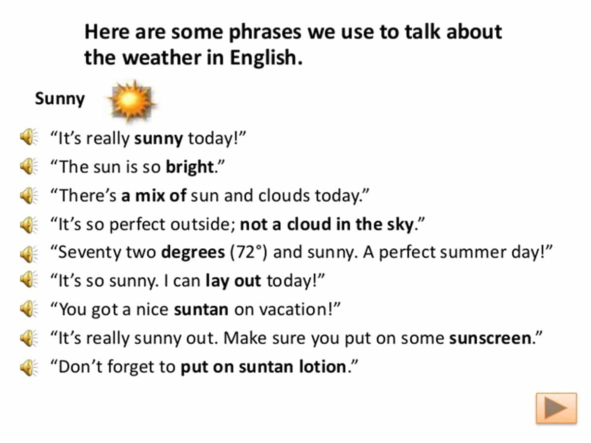 Speaking about the Weather in English 3