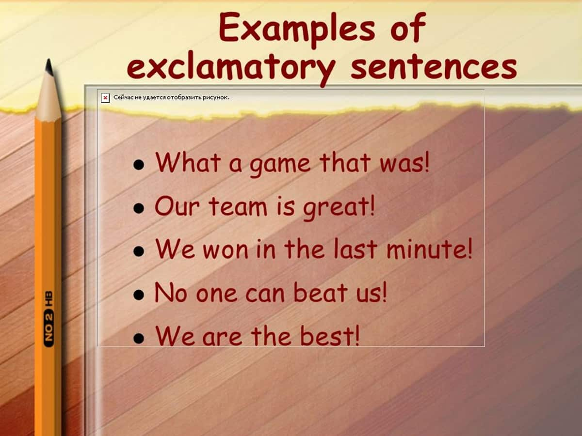 examples of Exclamatory Sentence