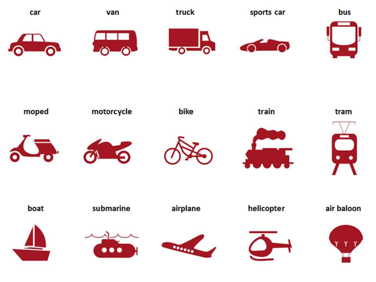 Street Vehicles and Transportation Vocabulary in English 4