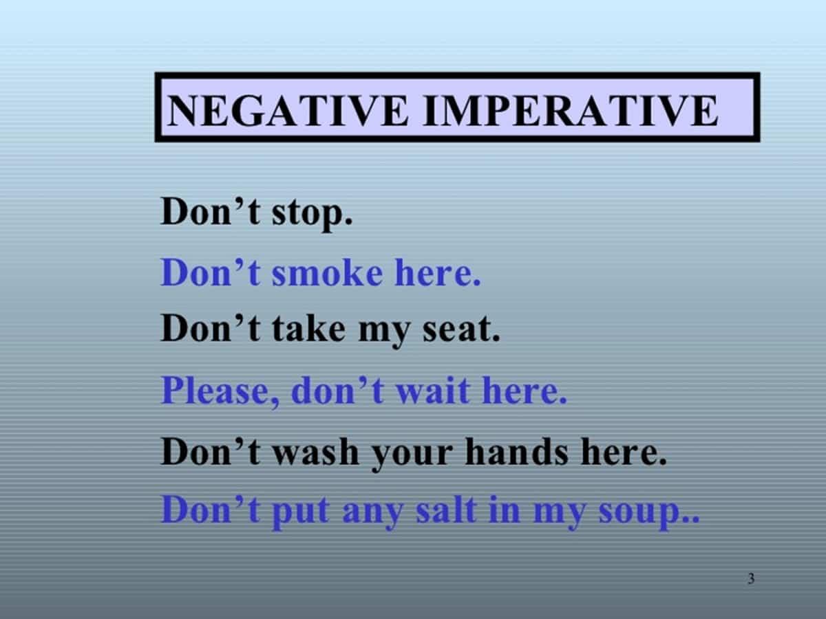 negative imperative