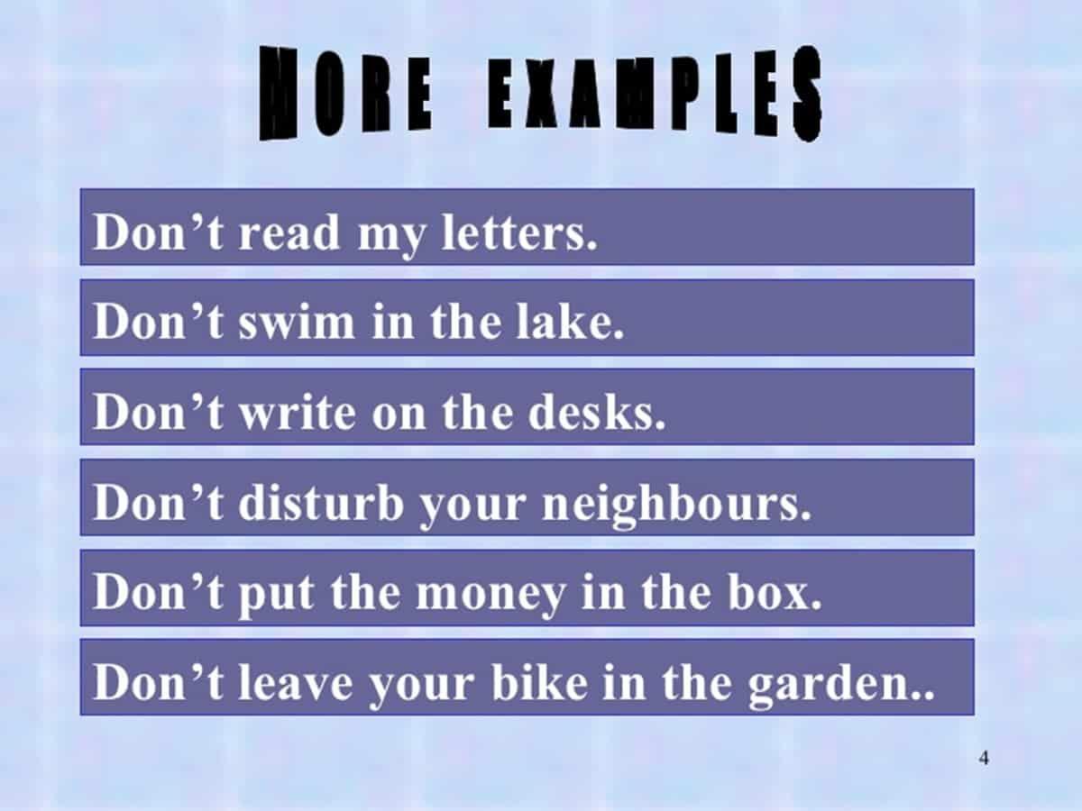 Imperative Sentences: Definition & Examples - ESLBuzz