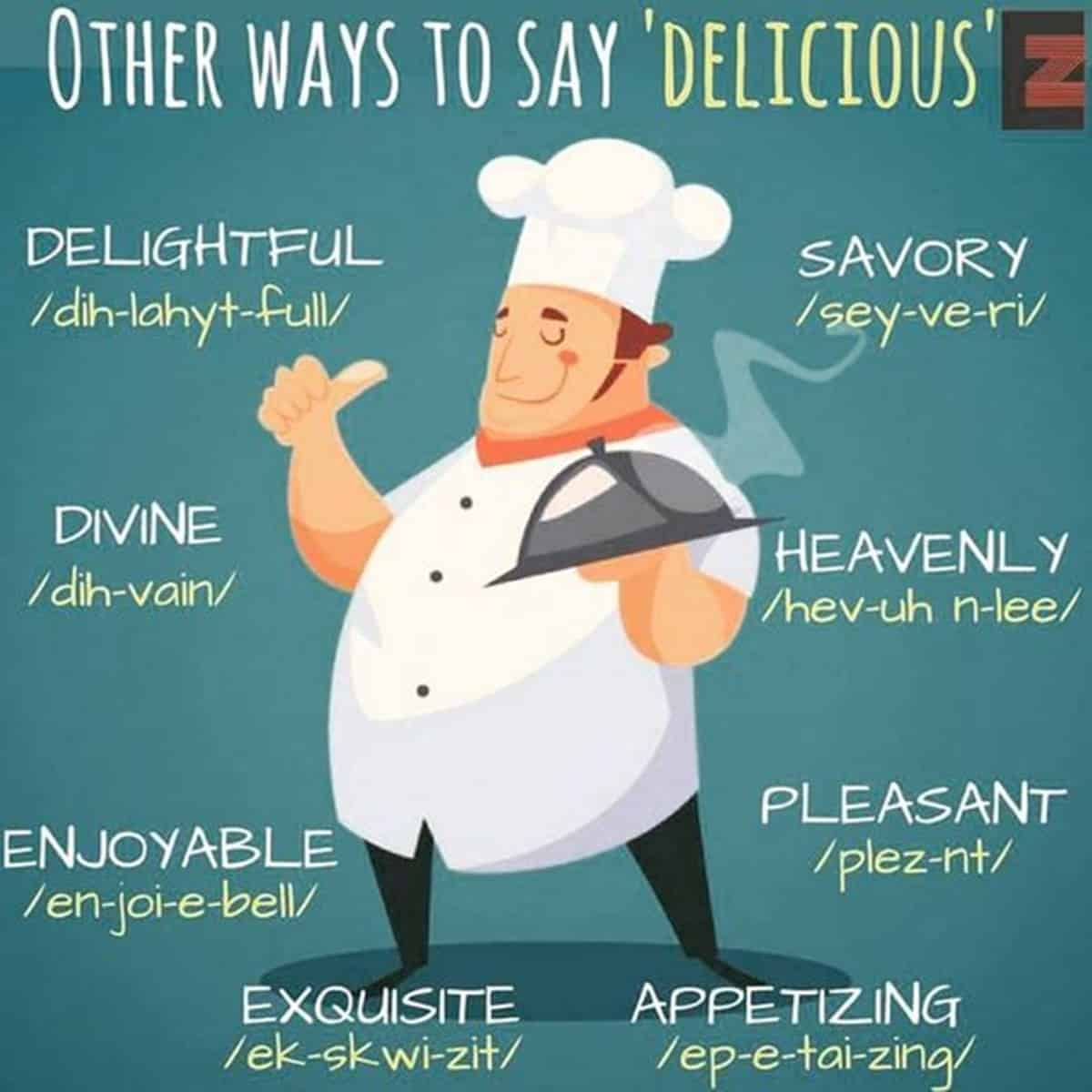 """Other Ways to Say """"Delicious"""""""