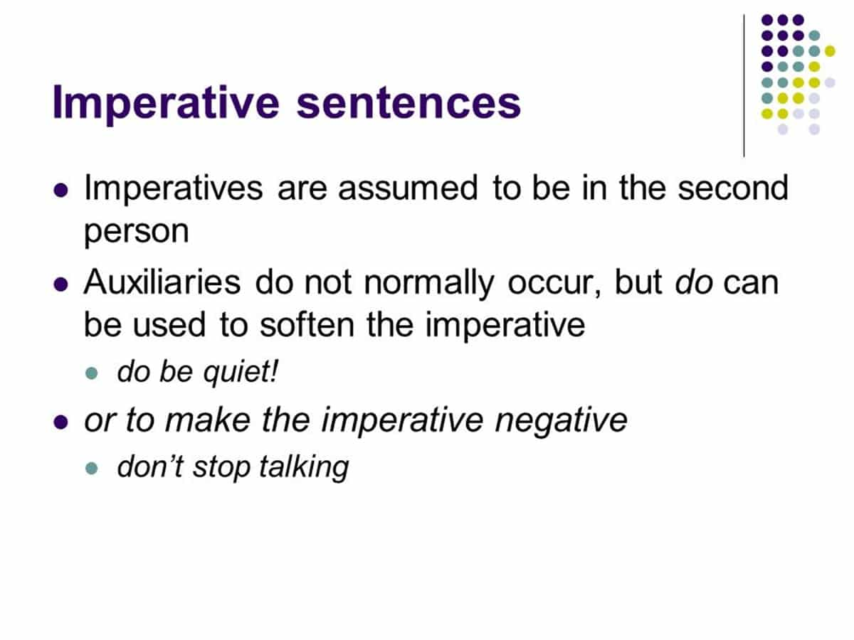 "Imperatives with ""Do"""